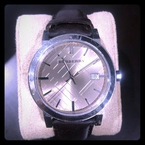 Burberry Accessories - Woman's brown leather Burberry watch